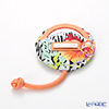 Jim Thompson 'Hibiscus Flower / Zebra' 1136417A Round Mirror with Cover 7.5cm