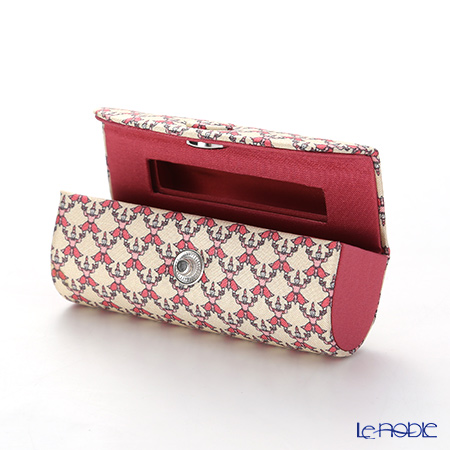 Jim Thompson 'Khonthai' Beige & Pink 1136438A Lipstick Case 8.5x2.5cm