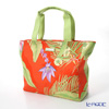 Jim Thompson 'Tropical Plant & Flower' Orange PCB6288B Fiji Tote Bag 32x27.5cm