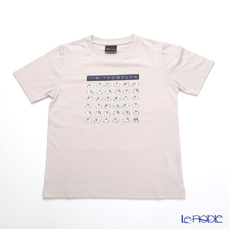 ジムトンプソン 子供服 Tシャツ S(4-7歳) ホワイトゾウ36/ライトグレー