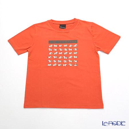 ジムトンプソン 子供服 Tシャツ S(4-7歳) ホワイトゾウ36/オレンジ