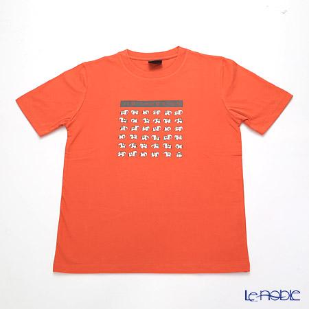 ジムトンプソン 子供服 Tシャツ M(8-11歳)ホワイトゾウ36/オレンジ