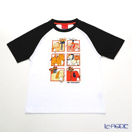 ジムトンプソン 子供服 Tシャツ S(4-7歳)ゾウサファリ