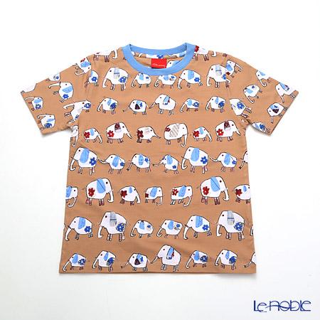 ジムトンプソン 子供服 Tシャツ S(4-7歳) ゾウウォーキング/ベージュ