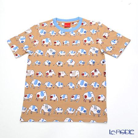 ジムトンプソン 子供服 Tシャツ M(8-11歳)ゾウウォーキング/ベージュ