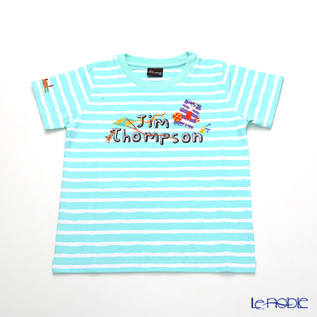 ジムトンプソン 子供服 Tシャツ 3Y(3-4歳)ジムトンプソン/ストライプ/ターコイズ