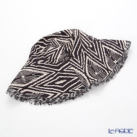 Jim Thompson 'Zig-zag' Black / White 2506409A Fringe Hat