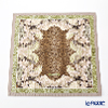 Jim Thompson 'Leopard & Flower' Beige Green 7710B Ruffled Silk Cushion Cover 46x46cm