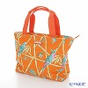 Jim Thompson 'Blue Bird & Bamboo' Orange PCB4327D Fiji Tote Bag 32x27.5cm
