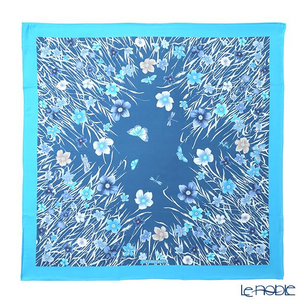 ジムトンプソン シルクスカーフ スクエア PSB80003B メドウフラワーB/スカイブルー/ブルー
