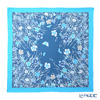 Jim Thompson 'Meadow Flower & Butterfly' Blue / Sky Blue frame PSB80003B Silk Square Scarf 82x82cm