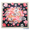 Jim Thompson 'Hibiscus Shower' Pink Black PSB80006A Silk Square Scarf 83x83cm