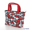 Jim Thompson 'Red & Grey Elephant Silhouette' Black PCB10000A Fiji Tote Bag 32x27.5cm