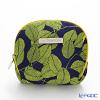 Jim Thompson 'Green Leaf' Dark Blue 1310105B Coin Purse 9.5x8.5cm
