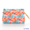 Jim Thompson 'Orange Lotus Flower Blue Leaf' Pink 11310046B Cosmetic Pouch 17.5x11cm