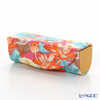 Jim Thompson 'Orange Lotus Flower Blue Leaf' Pink 11310046B Lipstick Case 8.5x2.5cm