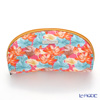 Jim Thompson 'Orange Lotus Flower Blue Leaf' Pink 11310046B Oval Pouch 17x10cm