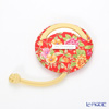 Jim Thompson 'Yellow Pink Little Flower' Red / Yellow 11310044E Round Mirror with Cover 7.5cm