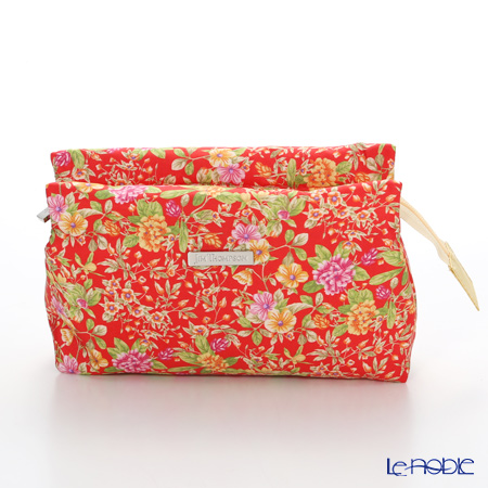 Jim Thompson 'Yellow Pink Little Flower' Red / Yellow 11310044E Cosmetic Pouch 17.5x11cm