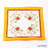 Thompson Cushion cover silk ruffle 1169722C Elephant 4/orange/white