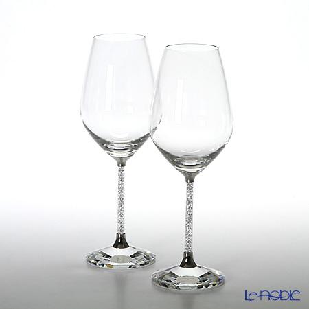スワロフスキー Crystalline/白ワイングラス(2個セット)SWV1-095-947