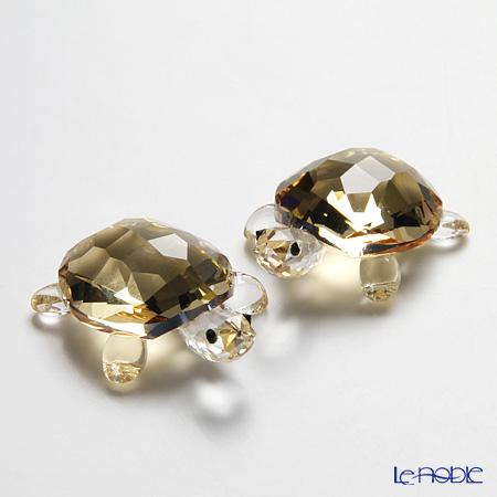 スワロフスキー 子ガメ Crystal Golden Shadow(2個セット)SWV1-130-268