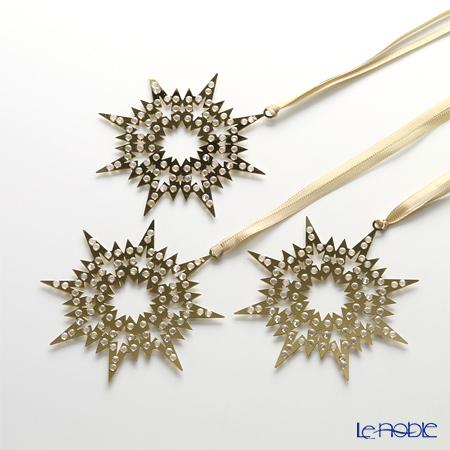 Swarovski 'Christmas - Pixel Star Gold' SWV1135182 Ornament (set of 3)