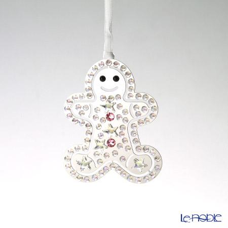スワロフスキー クリスマスオーナメント ジンジャーブレッドマン SWV5-004-499
