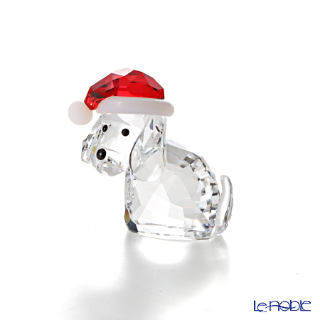Swarovski Dog with Santa's Hat SWV5-060-449