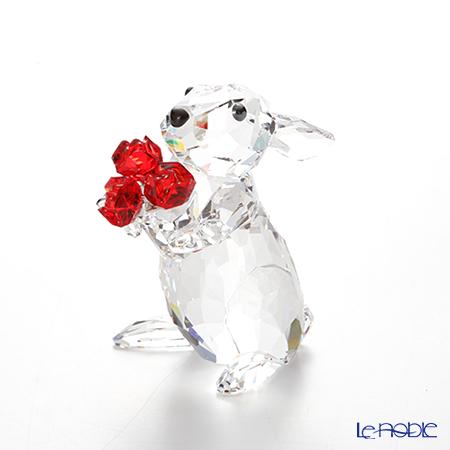 スワロフスキー ウサギとローズSWV5-063-338