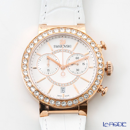 スワロフスキー ウォッチ Citra Sphere Chrono White Rose Gold ToneSW5080602