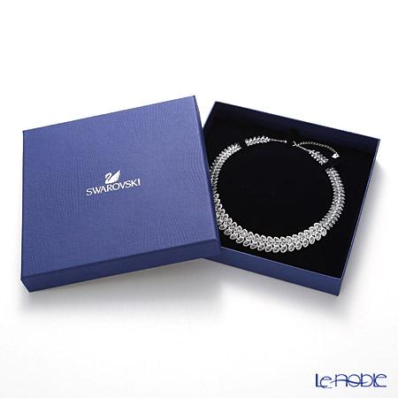 Swarovski 'Baron (Leaf) / Blue & White' Rhodium SW5117678 Necklace 19cm
