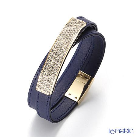 スワロフスキー ブレスレット Vio Cielo Leather(ネイビー)SW5120642