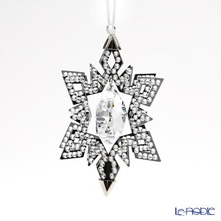Swarovski Christmas Ornament Star, Silver Tone SWV5-135-808