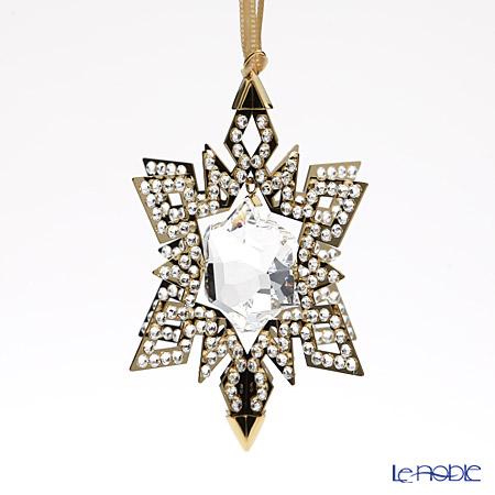 Swarovski Christmas Ornament Star, Gold Tone SWV5-135-809