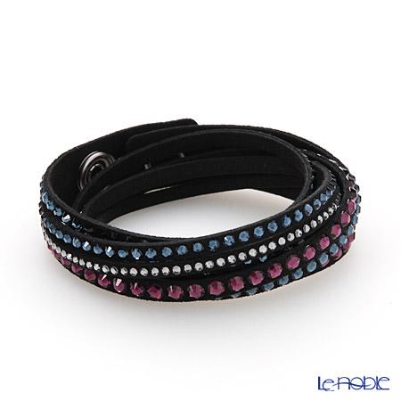 スワロフスキー ブレスレット スレイク デラックス(ブラック/ピンク&ブルー)SW5141350