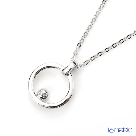 Swarovski 'Creativity Circle / White' Rhodium SW5198686 Pendant 43.5cm