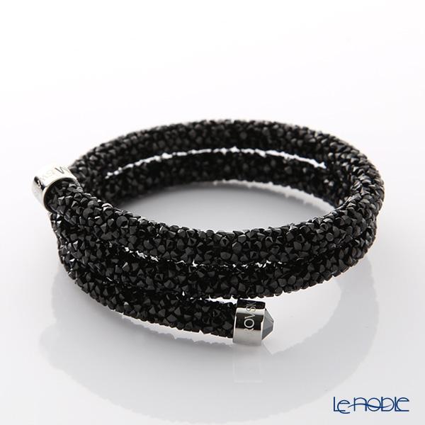 スワロフスキー バングル クリスタルダスト ダブル(ブラック) M/S SW5250023