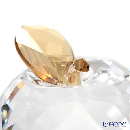 Swarovski 'Apple' Clear & Gold Leaf SWV5270261 Decoration Object H5.5cm