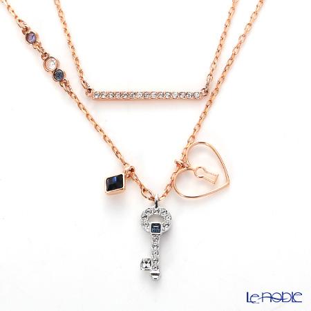 Swarovski necklace glowing key SW5273295 rose