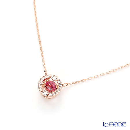 Swarovski 'Sparkling Dance - Round / Red' Rose Gold SW5279421 Necklace 42cm