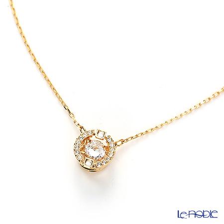 Swarovski necklace sparkling dance round (gold/clear) SW5284186