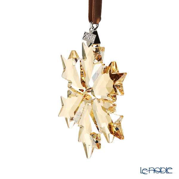 Swarovski 'Christmas - Gold Snowflake' SWV5357982 [Annual Edition 2018] Ornament (S) 8.5cm