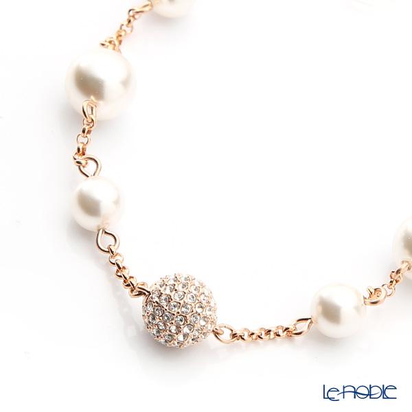 Swarovski 'Remix Collection - Round Pearl Strand / White & White Pearl' Rose Gold SW5365738 [2017] Bracelet 18.5cm