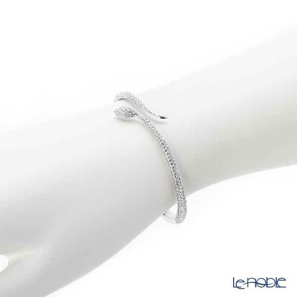24e6e54686f2a Swarovski bangle Leslie (Clear/silver) medium size SW5376338 18SS