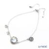Swarovski 'Lucy - Round / Blue & White' Rhodium SW5389033 [2018] Bracelet 26cm