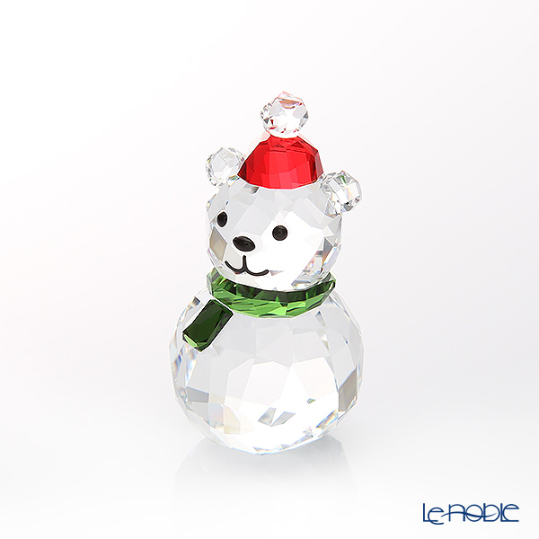 Swarovski 'Christmas - Rocking Polar Bear (Red Santa Hat, Green Scarf)' SWV5393459 [2018] Decoration Object H4.5cm