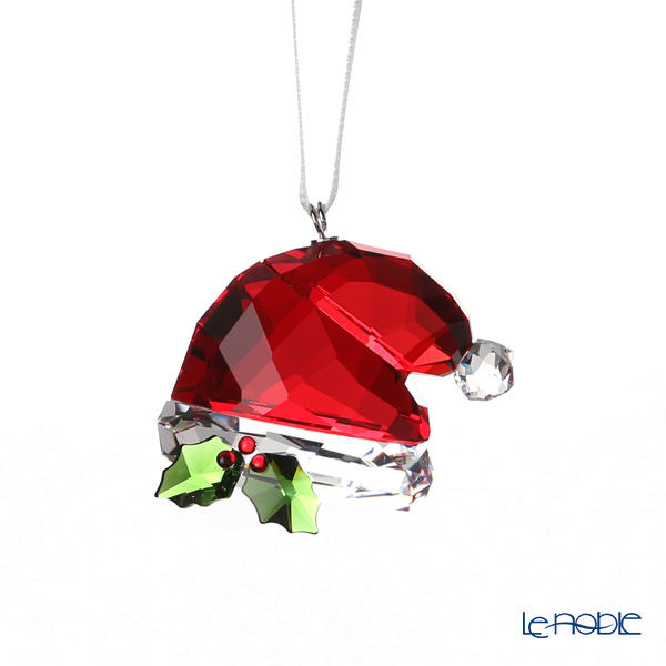 Swarovski 'Christmas - Red Santa's Hat (with Holly Leaf)' SWV5395978 [2018] Ornament H3cm