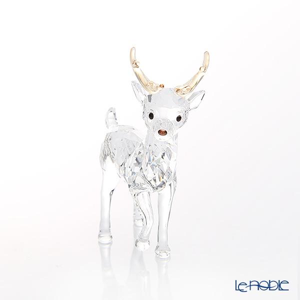 Swarovski 'Christmas - Santa's Reindeer' Gold Antler SWV5400072 [2018] Figurine H6cm