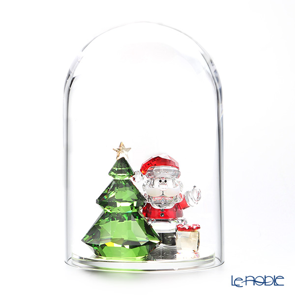 Swarovski 'Christmas Tree & Santa' Green Red SWV5403170 [2018] Bell Jar 8.5xH12.5cm